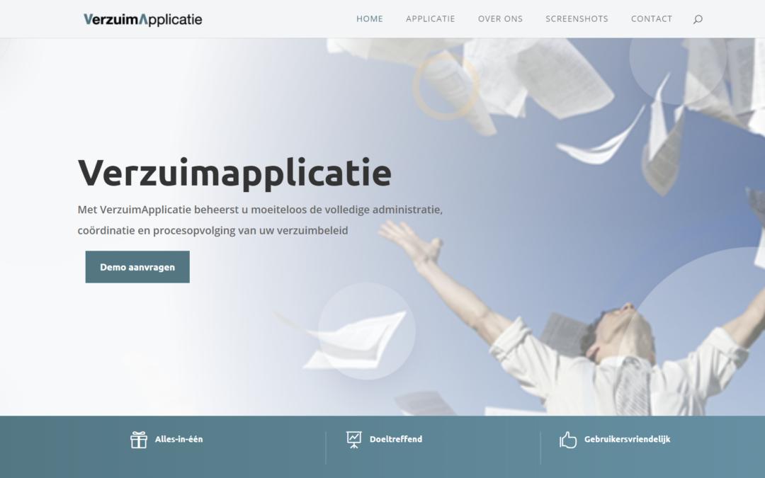 Nieuwe website Verzuimapplicatie